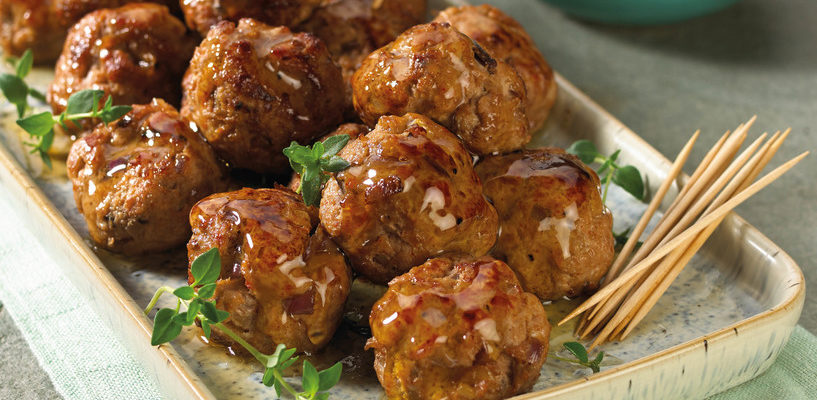 Honey Chili Turkey Meatballs