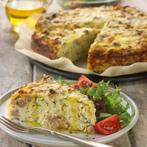 Garden Herb Sausage Potato Pie