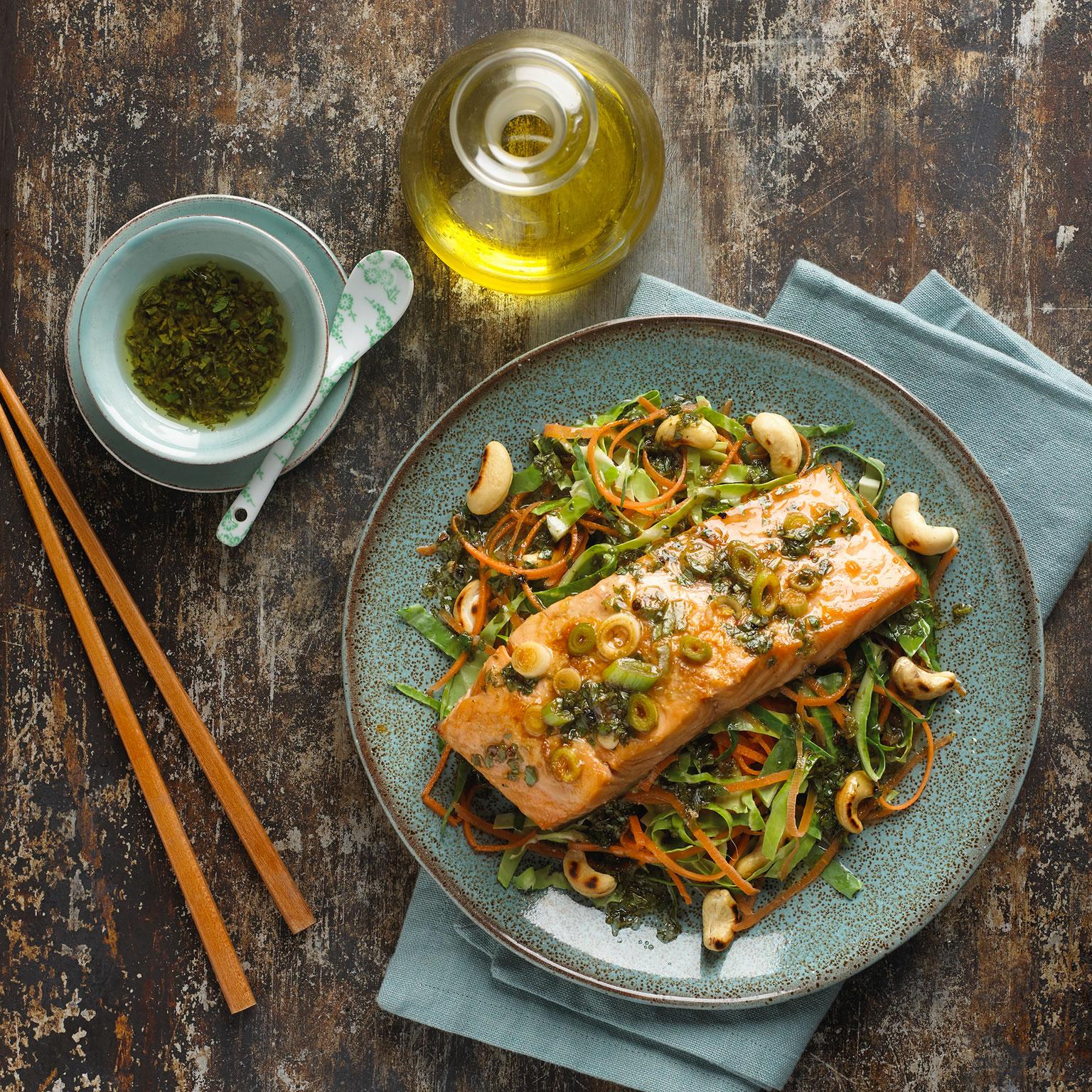 Salade de saumon asiatique