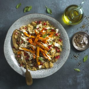 Ensalada de zanahoria asada y quinoa