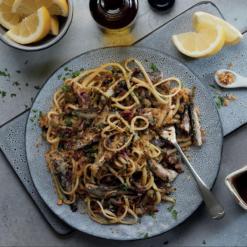 Pasta Siciliana con sardinas