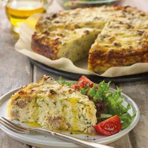Garden Herb Sausage Potato Pie