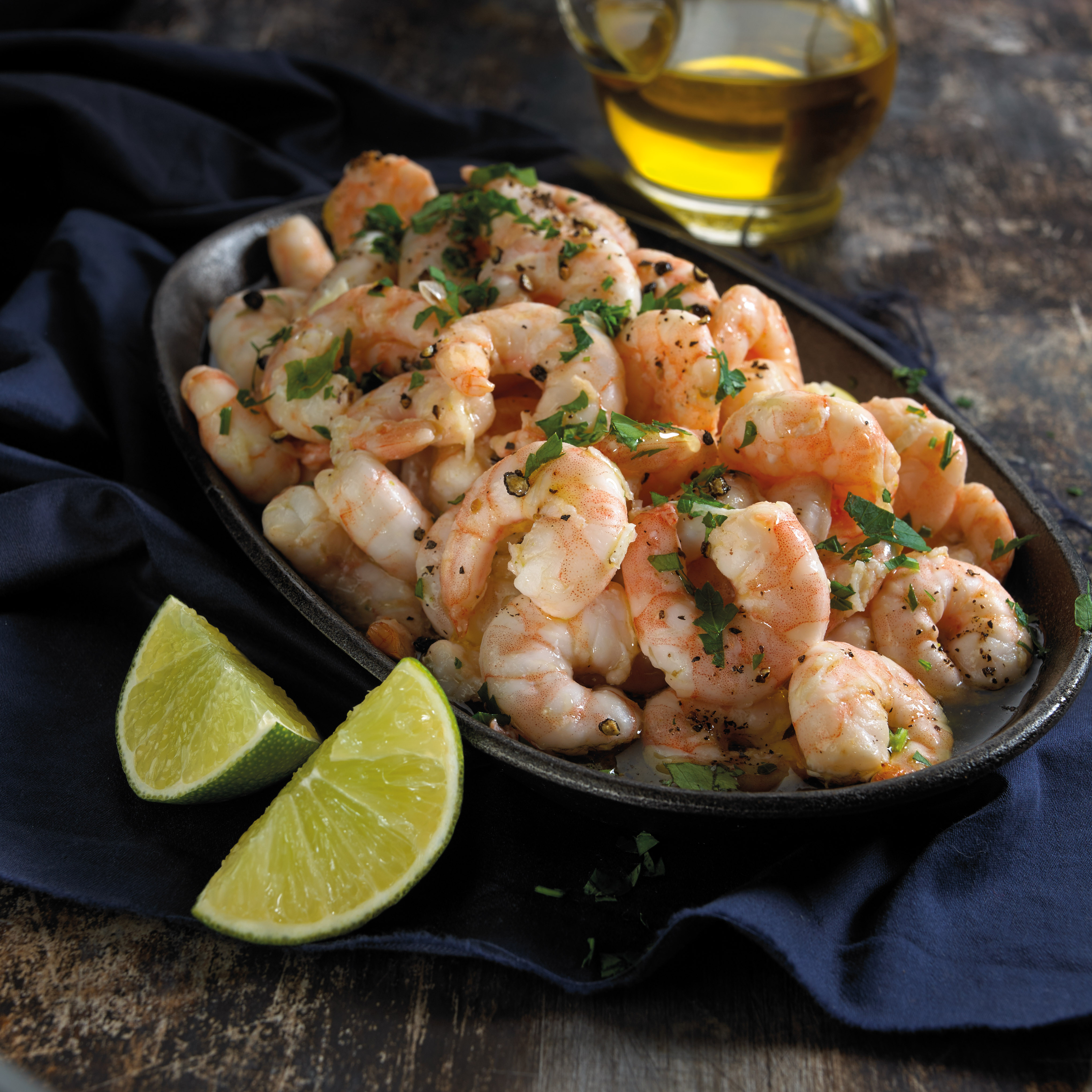 Shrimp w Olive Oil Garlic and Lime