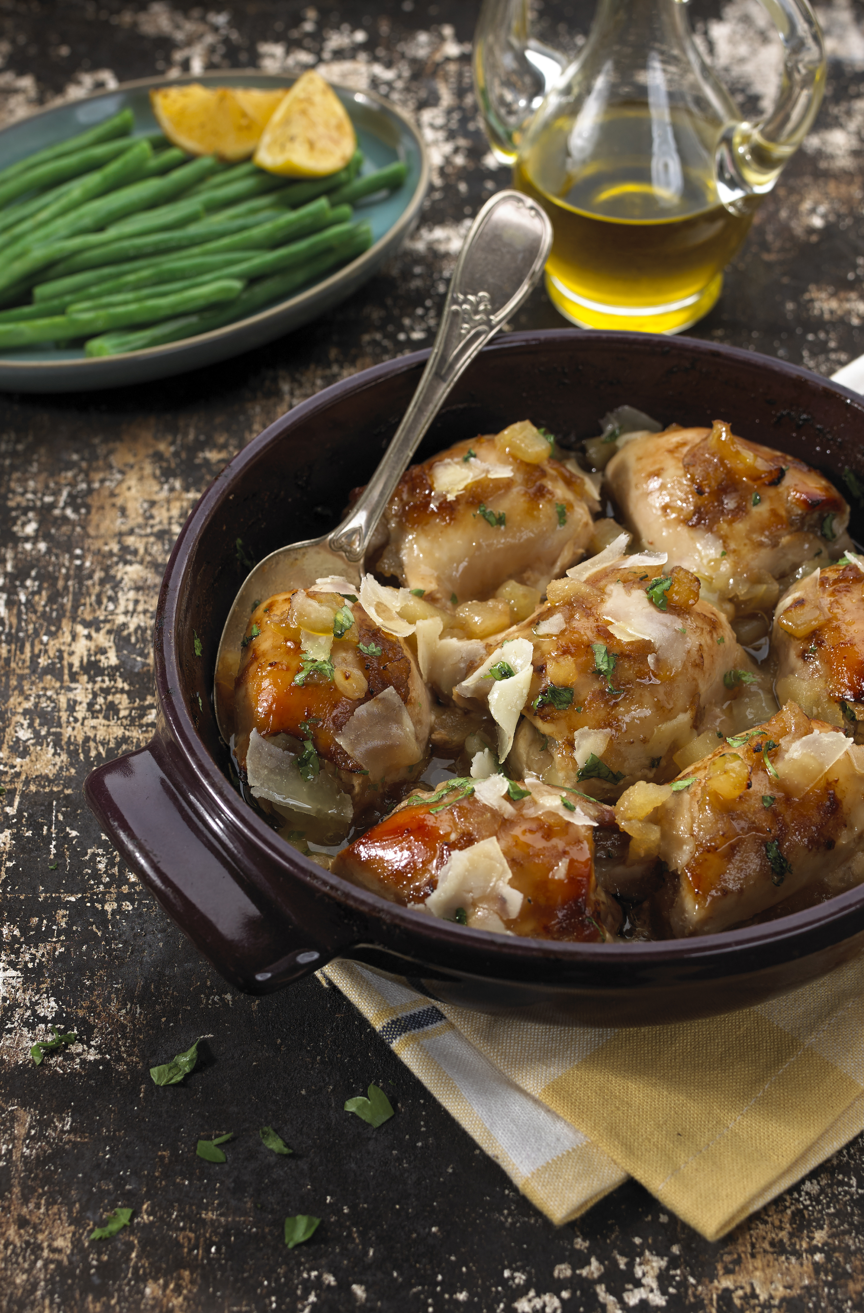 Balsamic and Applesauce Chicken Thighs