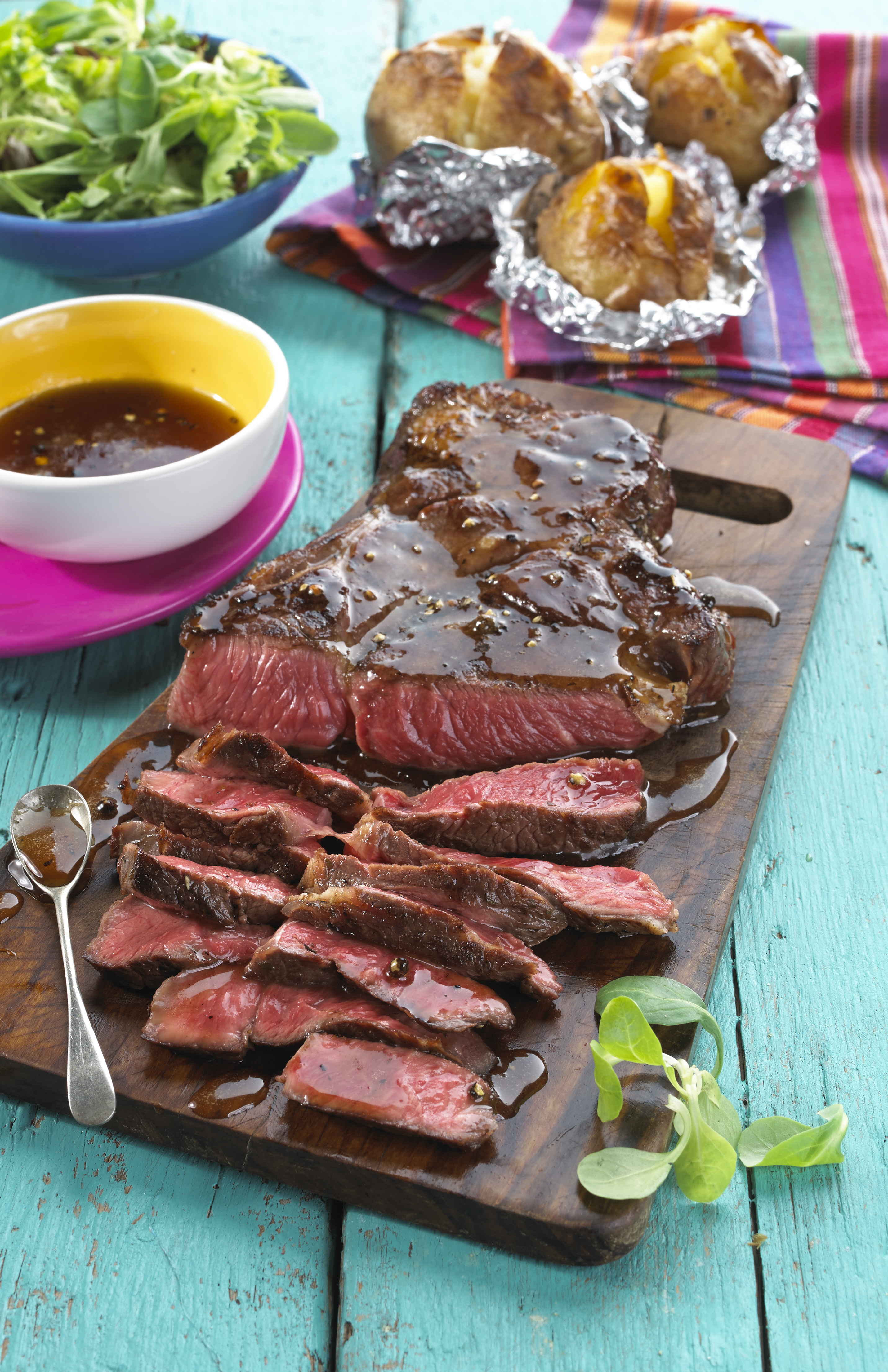 Charred Flank Steak With Peroni Beer Marinade