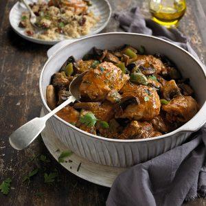 Balsamic and Mustard Chicken Thigh Casserole