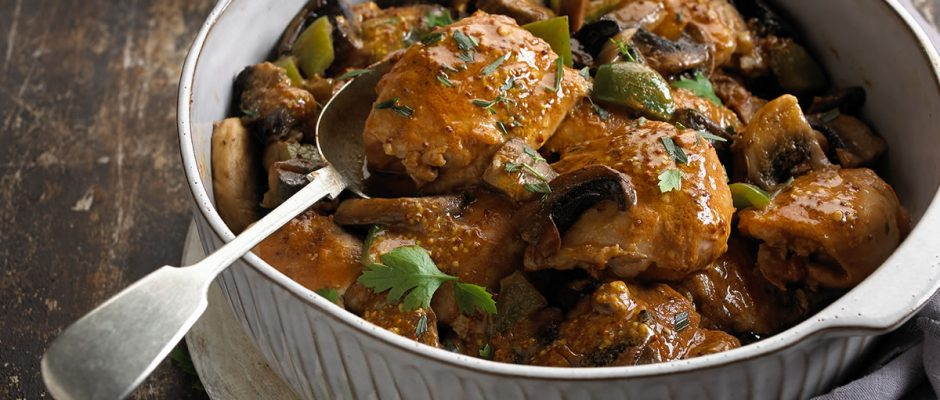 Balsamic and Mustard Chicken Thigh Casserole