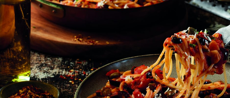 Spaghetti with Kalamata Olives and Capers