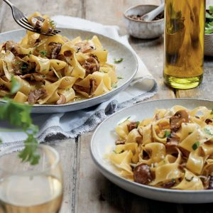 Pappardelle With Mushroom Ragú