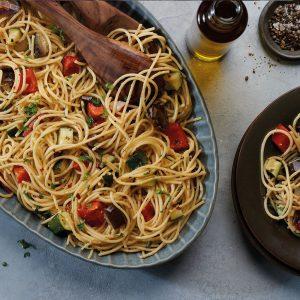 Garlic Roasted Vegetable Pasta