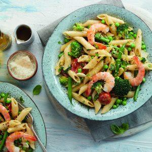 Pasta Primavera with Shrimp